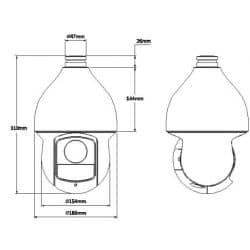 Plan caméra vidéo surveillance dôme motorisé