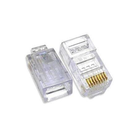 LOT DE 10 CONNECTEURS MODULES 8 POINTS 8 CONTACTS CAT5E/6 UTP POUR CABLE RIGIDE