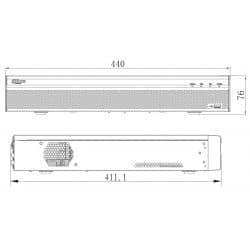 Enregistreur IP 32 voies, 12MP, VGA, 2x HDMI avec alarmes, 4 HDD