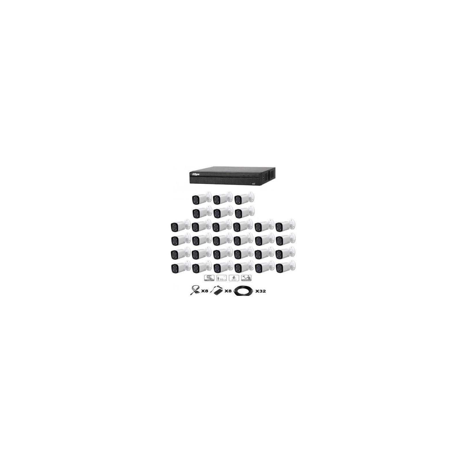 KIT VIDEO SURVEILLANCE DAHUA 32 CAMERAS TUBES HDCVI ZOOM X4