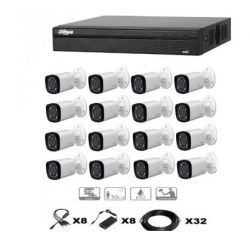 KIT VIDEO SURVEILLANCE DAHUA 16 CAMERAS TUBES HDCVI ZOOM X4