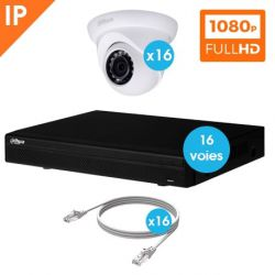 KIT VIDEO SURVEILLANCE DAHUA 16 CAMERAS DOME IP 1080P