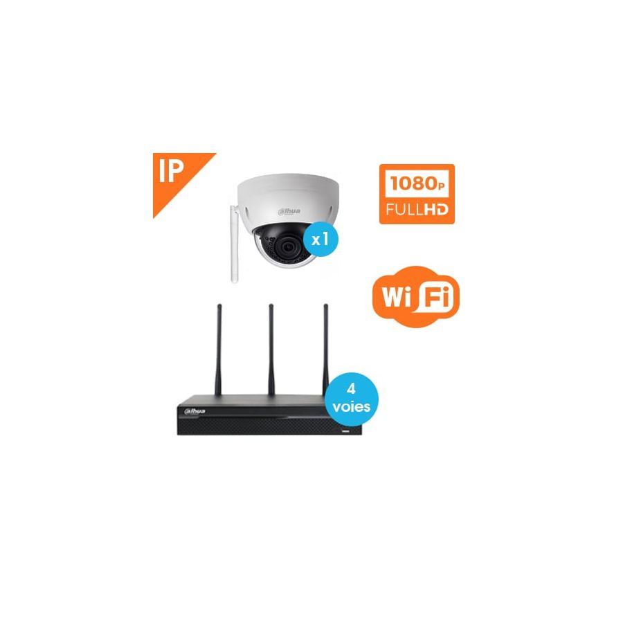 kit video surveillance dahua wifi 1 camera dome ip. Black Bedroom Furniture Sets. Home Design Ideas