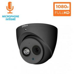 KIT VIDEOSURVEILLANCE DAHUA 16 CAMERAS DOME HDCVI 1080 P DARK GREY AVEC MICRO