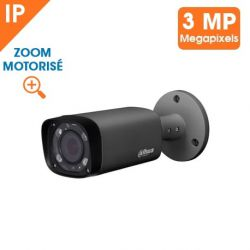 KIT VIDEOSURVEILLANCE DAHUA 32 CAMERAS TUBE IP 3MP DARK GREY OPTIQUE MOTORISEE