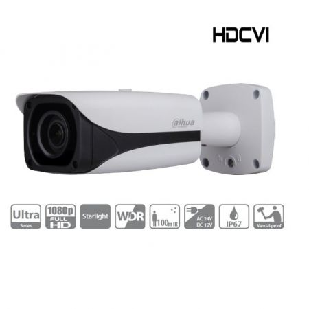 CAMERA DAHUA TUBE 2MP ZOOM MOTORISE IR 100M STARLIGHT