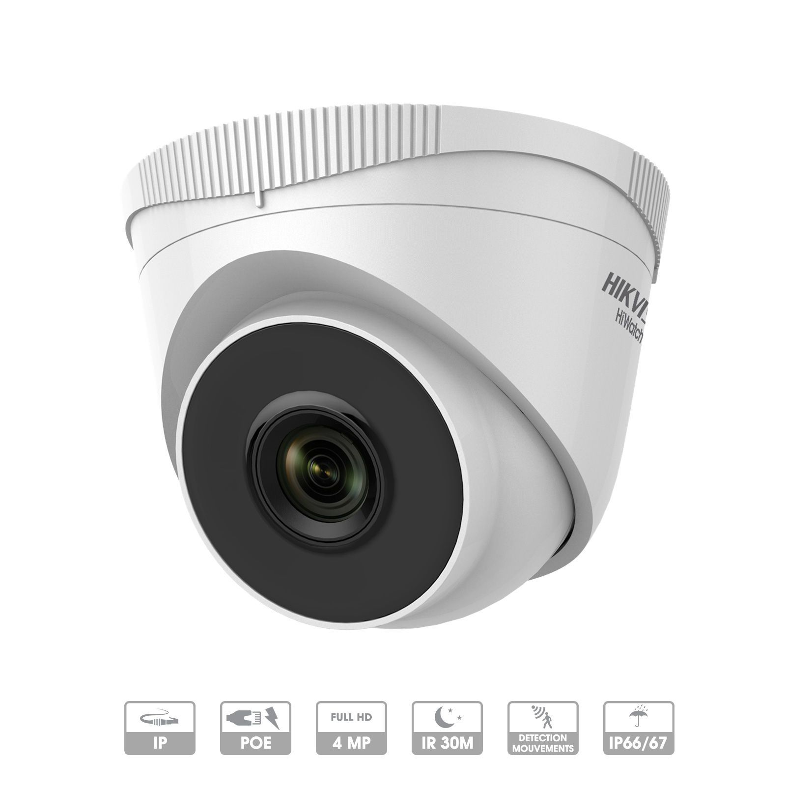 CAMERA HIKVISION HIWATCH IP DOME FIXE 4 MP