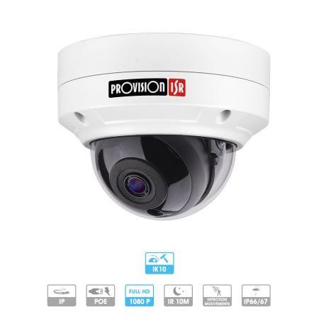 Caméra Provision | Dôme | 2 MP | IP | Antivandalisme | Microphone intégré