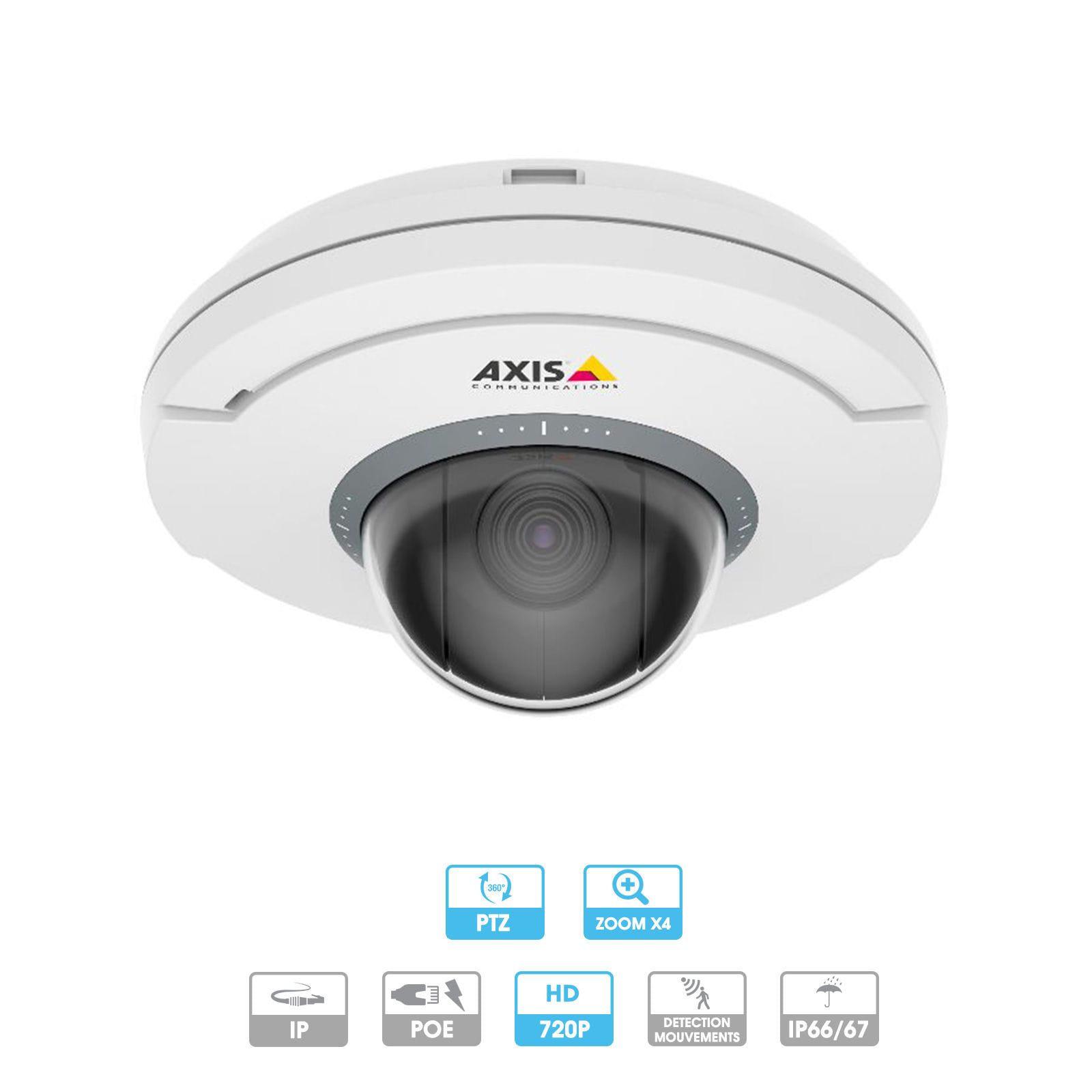 Caméra Axis | Dôme PTZ | M5054 | 1 MP | IP | Antivandalisme