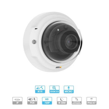 Caméra Axis | P3374-LV | 720 P | Antivandalisme | Zoom | IP
