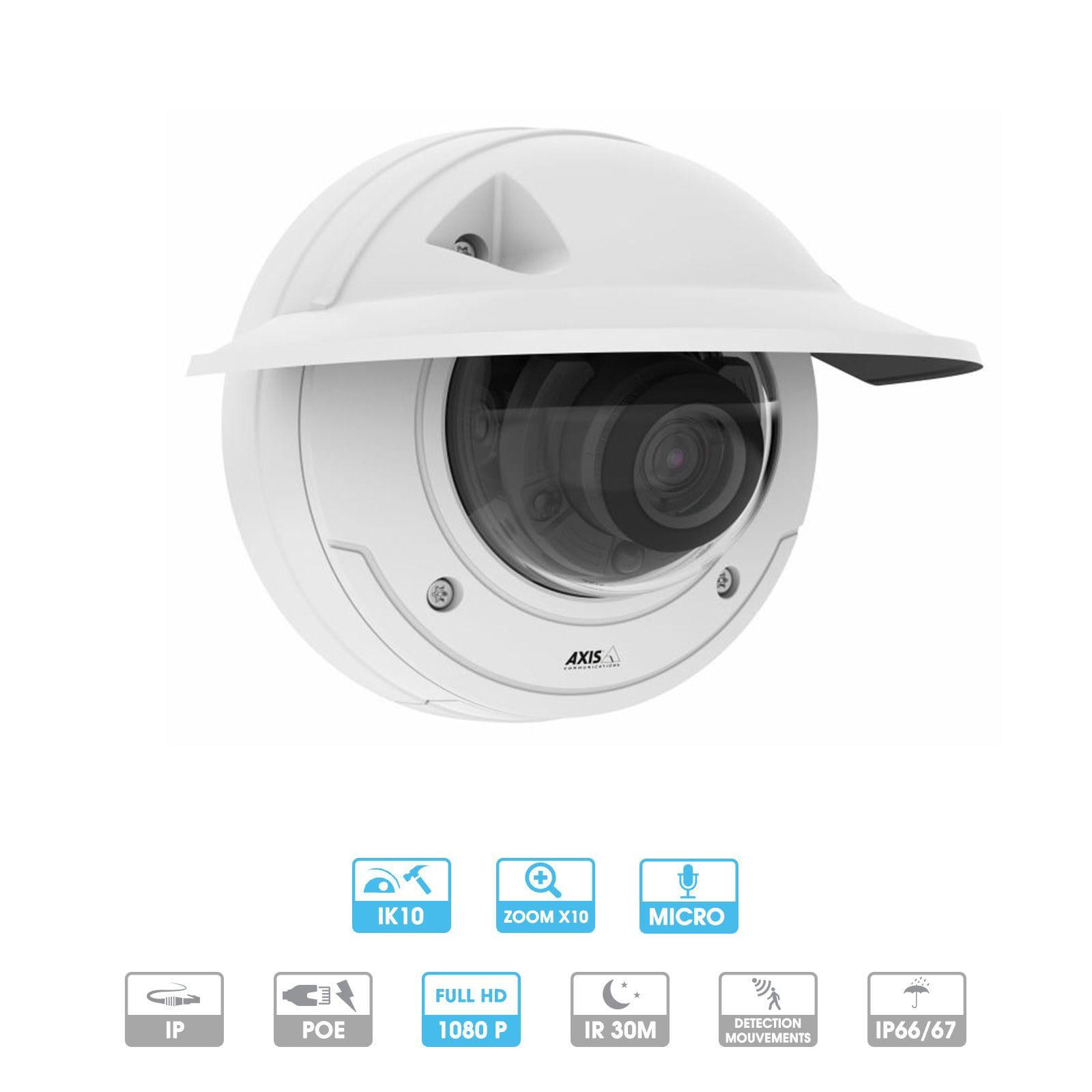 Caméra Axis | P3375-LVE | 1080 P | Antivandalisme | Zoom | IP