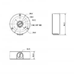 Boitier de raccordement aluminium et acier