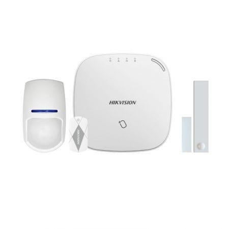 Kit alarme Hikvision | Sans Fil | Wifi | 1 détecteur d'ouverture | 1 détecteur de mouvement | 1 Centrale | 1 Badge