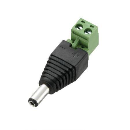 Connecteur électrique | Jack mâle | Angle droit | À visser