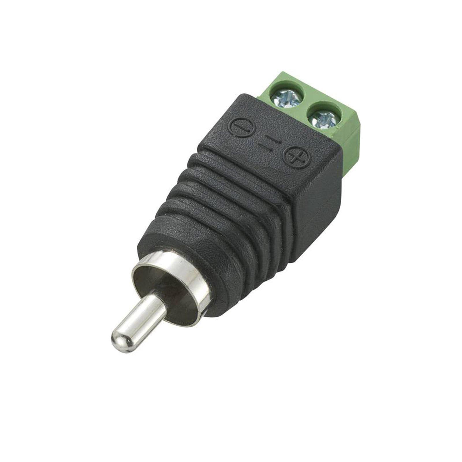 Connecteur électrique | RCA male | À visser