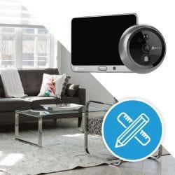 Judas connecté Ezviz DP1   Wifi   Intérieur   720 P   Micro et haut parleur