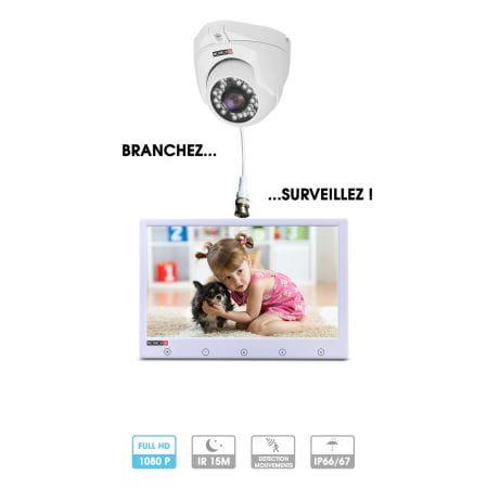 Kit caméra avec écran | Branchez et surveillez ! | 1 caméra 2 MP | Ecran 7 ou 10 pouces | 1 câble analogique | Provision