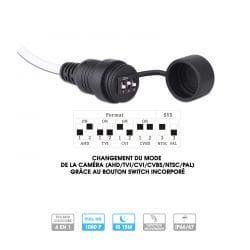 Caméra Provision | Tube | 2 MP | HDCVI / HDTVI / Analogique | Objectif fixe | Infrarouge 15 mètres
