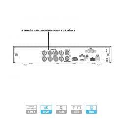 Enregistreur DVR Dahua | 8 caméras | HD 4K | 8 MP