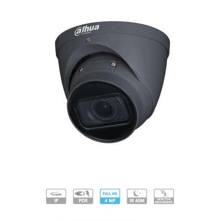 Caméra Dahua IP Dôme 4 MP optique motorisée Dark Grey