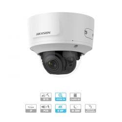 Caméra Hikvision | Dôme | 8 MP (4K) | IP PoE | Zoom x 4 | Protection antivandalisme | Infrarouge 30 mètres