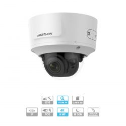 Caméra Hikvision | Dôme | 8 MP (4K) | IP PoE | Zoom x 4 | Protection antivandalisme | Infrarouge 30 mètres