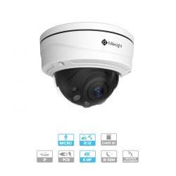 Caméra dôme Milesight | 4K | IP PoE | Zoom x4 | Microphone | Antivandalisme