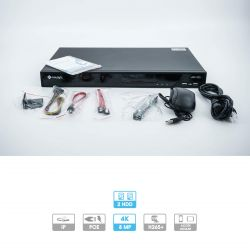 Enregistreur NVR Milesight | 16 caméras (16 PoE) | IP | PoE | 8 MP maximum | 1 HDD