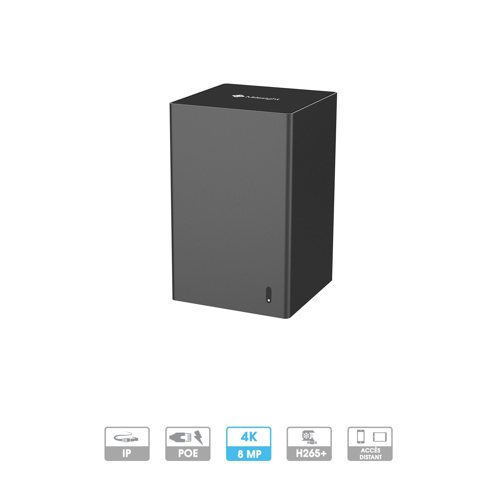 Enregistreur Mini-NVR Milesight | 8 caméras (4 PoE) | IP | PoE | 8 MP maximum | 1 HDD