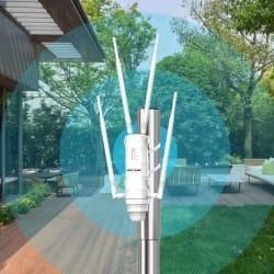 Borne Wifi extérieure | Répéteur Wifi | Portée 200 mètres | WavLink 2