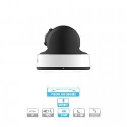 Caméra panoramique 180° Milesight | Mini-dôme | 4K | IP cote