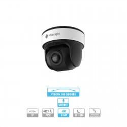 Caméra panoramique 180° Milesight | Mini-dôme | 4K | IP PoE Face