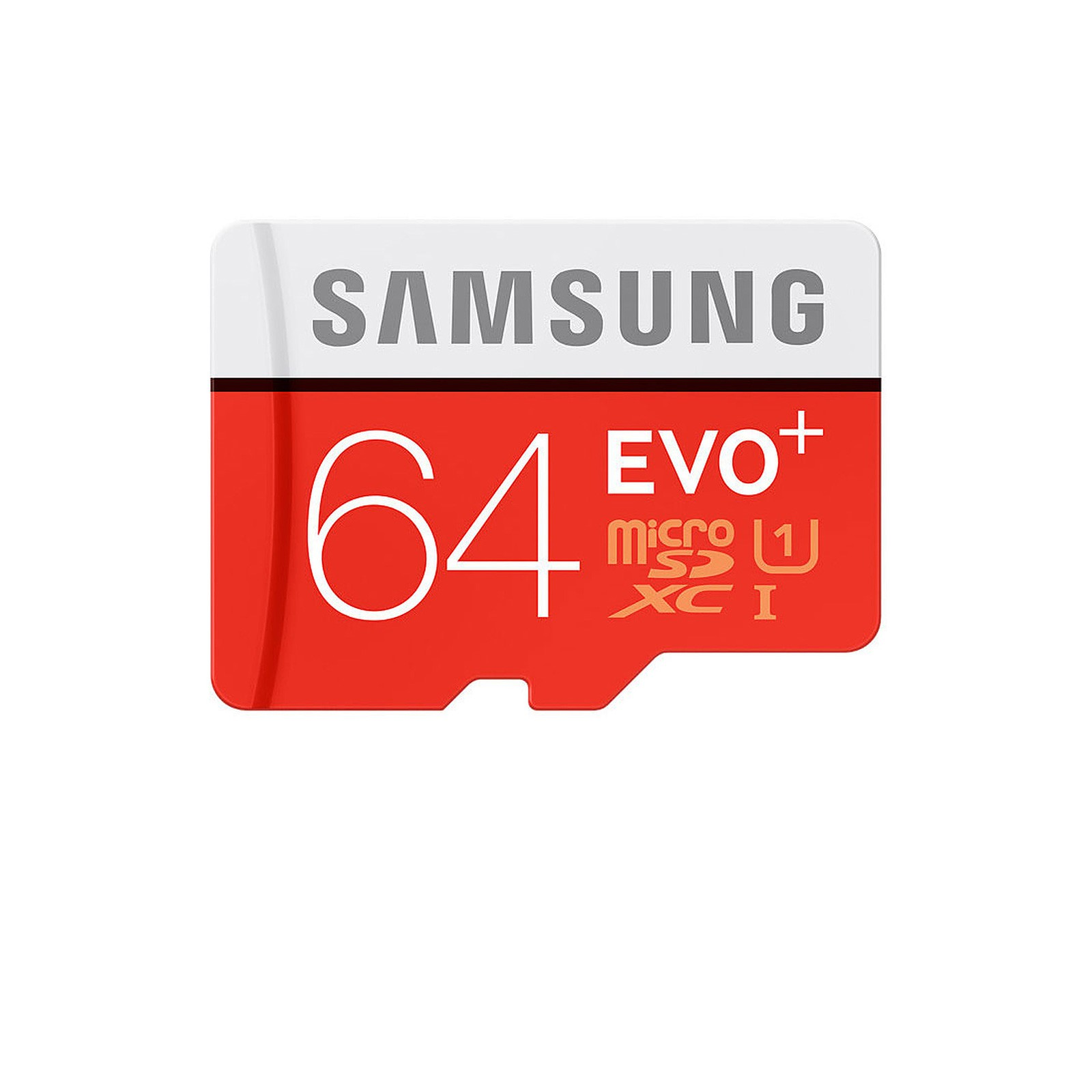 Carte micro SDXC Samsung EVO+ - 64 Go - Classe 10/UHS-I (U1)