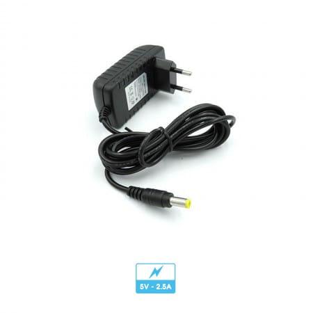 Alimentation électrique | Transformateur / adaptateur secteur | 5V 2.5A | Connecteur 5.5x2.1mm