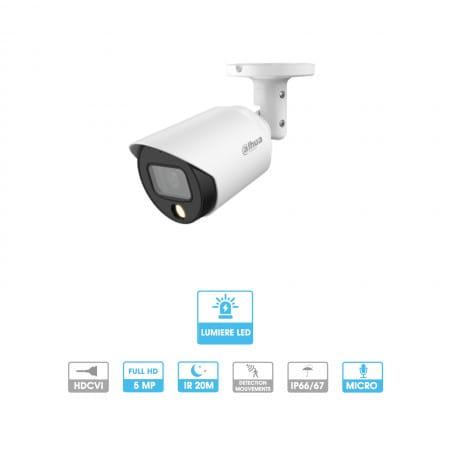 Caméra Dahua | Tube | 5 MP | HDCVI | Lumière LED | Micro