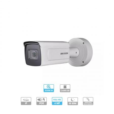 Caméra Hikvision | Tube | 4 MP | IP PoE | Zoom x 4 | Reconnaissance faciale