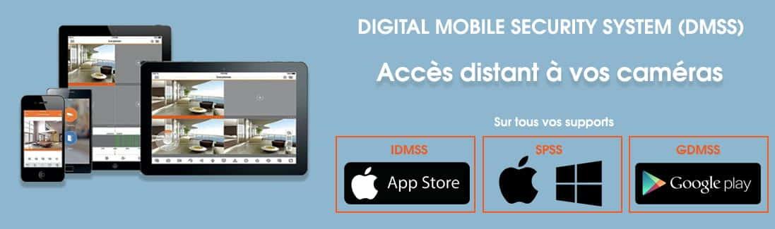 accès distant avec téléphone vidéosurveillance