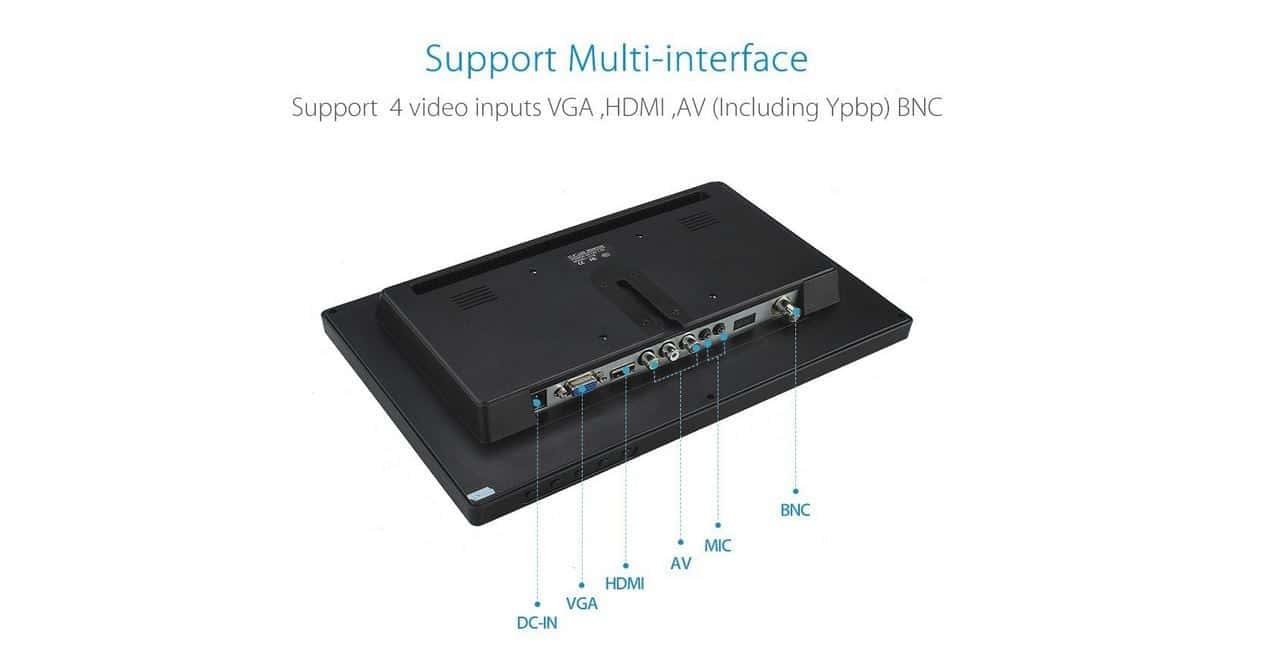 connectique écran BNC 12 pouces