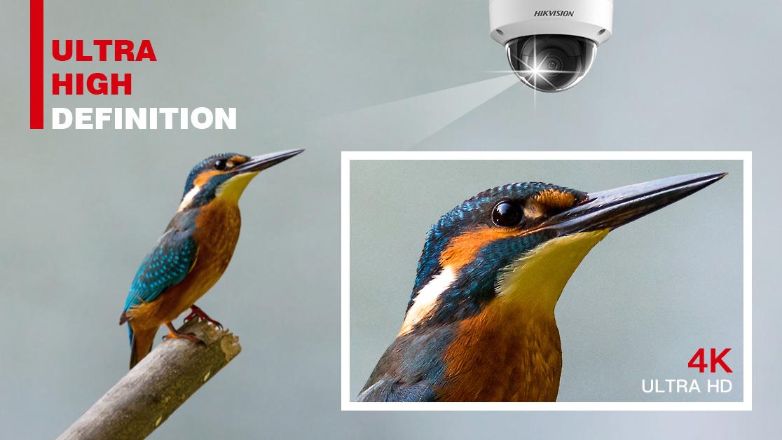 Caméra de vidéosurveillance 4K avec protection anti-vandalisme